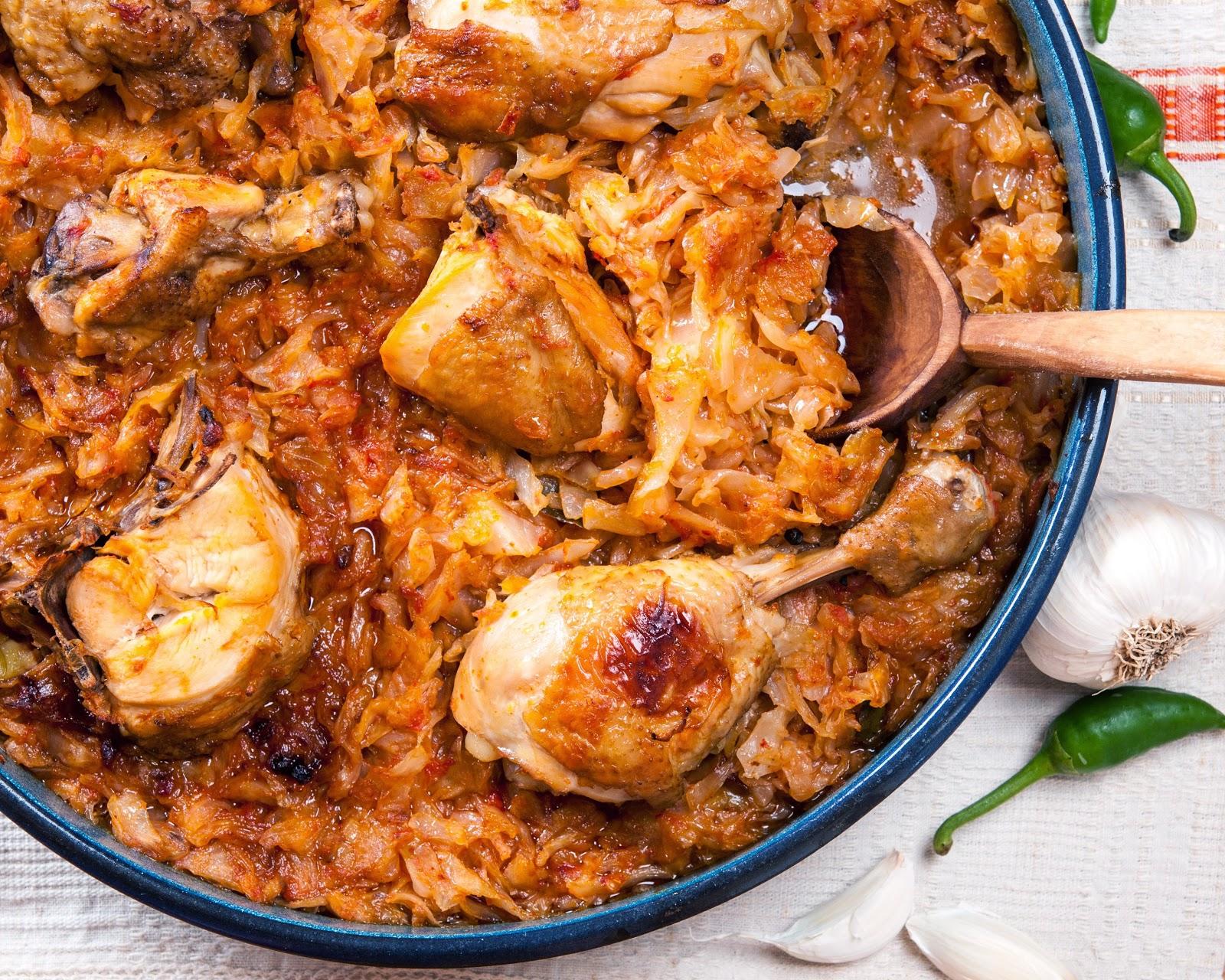 Пиле със зеле